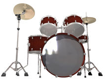 Drum Kit isolated on a white. Background Royalty Free Stock Images