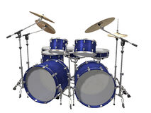 Drum Kit isolated on a white Stock Photo