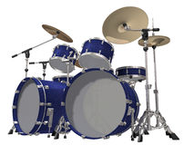 Drum Kit isolated on a white. Background Stock Image