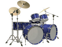 Drum Kit isolated on a white. Background Stock Images