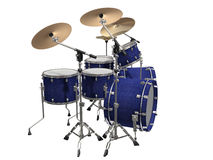 Drum Kit isolated on a white Royalty Free Stock Photos