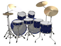 Drum Kit isolated on a white. Background Royalty Free Stock Photos