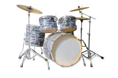 Drum kit on a light background Royalty Free Stock Photos