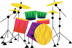 Drum Kit Musical Instrument Stock Photography