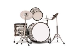Drum Kit On A White Background Royalty Free Stock Photos
