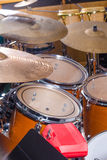 Drum kit, percussion instrument royalty free stock image