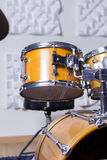 Drum kit in a recording studio Stock Images