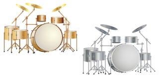 Drum_kit_set Images libres de droits