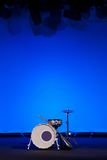 Drum kit on stage Royalty Free Stock Images