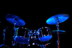 Drum Kit on the stage Stock Photography