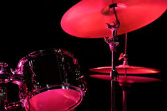 Drum Kit on the stage. Jazz music royalty free stock photo
