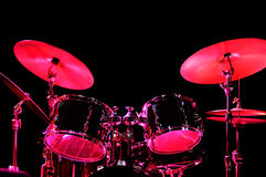 Drum Kit on the stage Stock Image