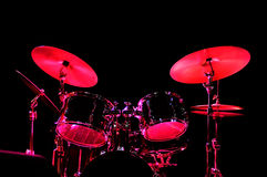 Drum Kit on the stage Royalty Free Stock Photography