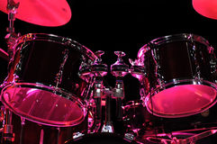 Drum Kit on the stage. Jazz music stock image
