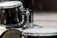 Drum kit on stage Royalty Free Stock Photo