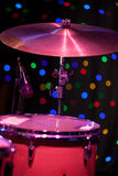 Drum Kit on the stage Stock Images