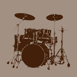 Drum kit vector. Grunge Drum kit Vector for Use Stock Image