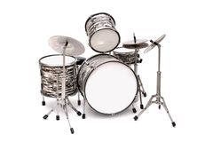 Drum Kit on a white background Royalty Free Stock Images