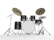 Drum Kit  on White Background Stock Photos