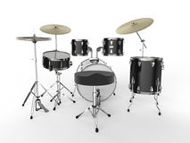 Drum Kit  on White Background Royalty Free Stock Images
