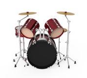 Drum Kit. On white background. 3D render vector illustration