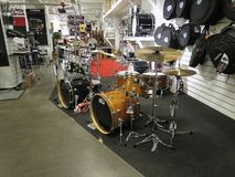 Drum kits for sale in Oslo Royalty Free Stock Image