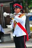 Drum major practicing for NDP 2010 Stock Image
