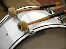 Drum and Mallets Royalty Free Stock Photo