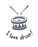 Drum music instrument Stock Image