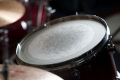 Drum. Musical instrument the drum lit Royalty Free Stock Photography