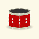 Drum. Musical instrument, red color. vector format Royalty Free Stock Photos