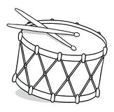 Drum outline illustration Stock Photo