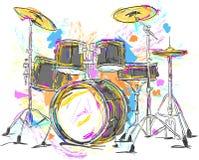 Drum Painting Vector Art. Vector Art Stock Images