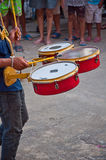 Drum in parade Stock Images