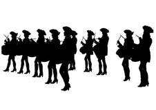 Drum parade women three Royalty Free Stock Image
