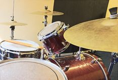 Drum percussion and drumsticks background royalty free stock photo