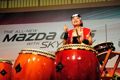 Drum performance during launch of Mazda CX-5 Royalty Free Stock Photo