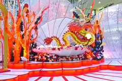 Drum Performance Chinese New Year stage background Stock Images