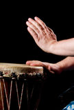 Drum play Stock Images