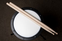 Drum Practice Pad. An instructional Drum Practice Pad used for learning drums Royalty Free Stock Images