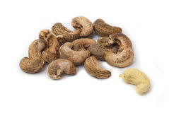 Drum roasted Cashew nuts Royalty Free Stock Photo