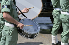 Drum roll of paratrooper brigade's band music Royalty Free Stock Photo
