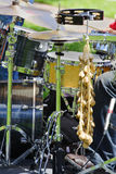 Drum Set. Picture of a man (not visible) Playing the drums Royalty Free Stock Photo