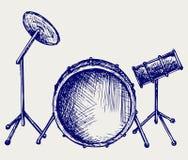 Drum set. Doodle style. Vector sketch vector illustration