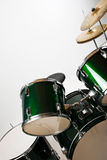 Drum set. Part of a drum set with cymbal isolated on white background,check also Musical instruments and musicians Royalty Free Stock Photography
