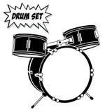 Drum set with basic 3 pcs. royalty free stock image