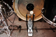 Drum set and  bass drum pedal Stock Photography