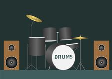 Drum set Stock Photography