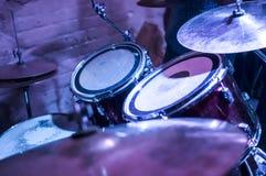 Drum set closeup in filter Royalty Free Stock Photos