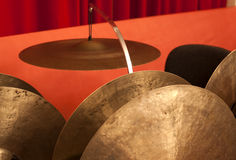 Drum set. Closeup  of mallets Royalty Free Stock Photos